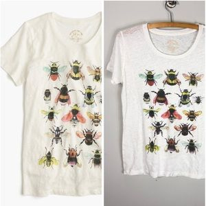 J. Crew Save the Bees Linen Tee Shirt Xerxes 752
